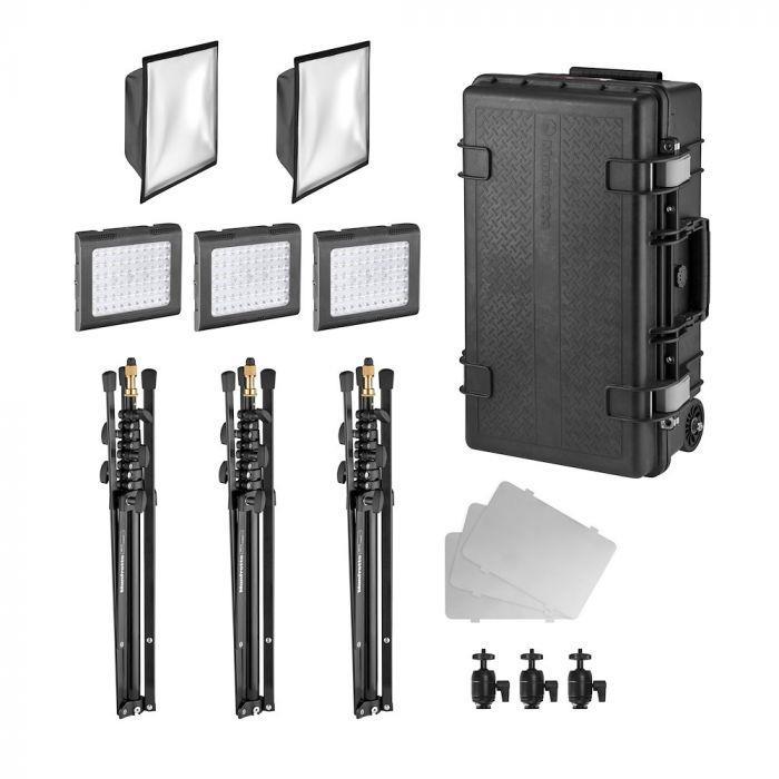 Manfrotto Lykos 2.0, 2v1 professional lighting kit