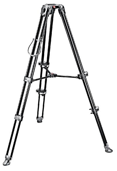Manfrotto Video Tripod, aluminium telescopic-twin