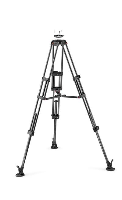 Manfrotto CF Twin leg with middle spreader video t