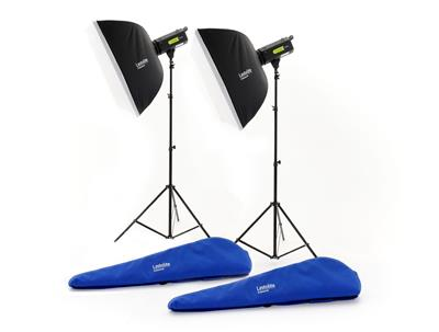 Lastolite Lumen8 Kit F400 + 2 Stands & 2 Softboxes