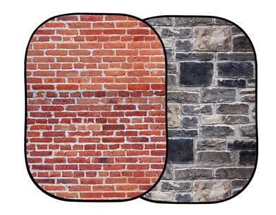 Lastolite Urban Collapsible 1.5 x 2.1m Red Brick/G