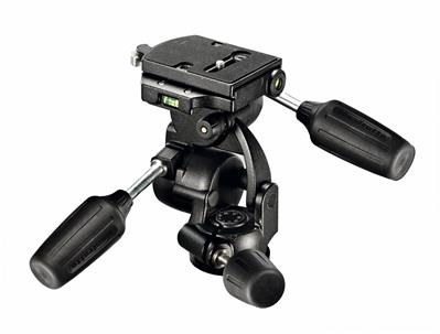 Manfrotto 3-Way Pan/Tilt Tripod Head with RC4 Quic