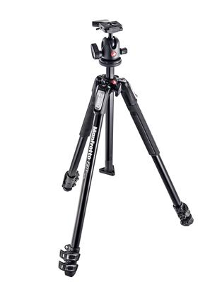 Manfrotto 190X aluminium 3-Section Tripod with 496
