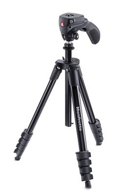 Manfrotto Compact Action aluminium tripod with hyb