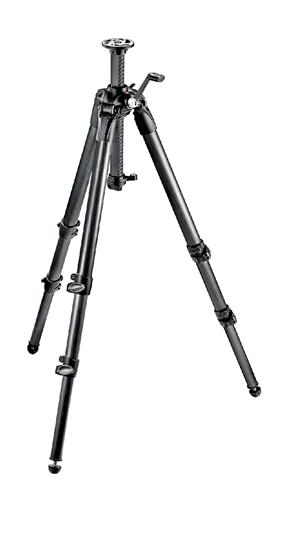 Manfrotto 057 Carbon Fiber Tripod 3 Sections Geare