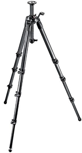 Manfrotto 057 Carbon Fiber Tripod 4 Sections Geare