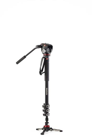 Manfrotto XPRO 4 section video monopod 2 Way head
