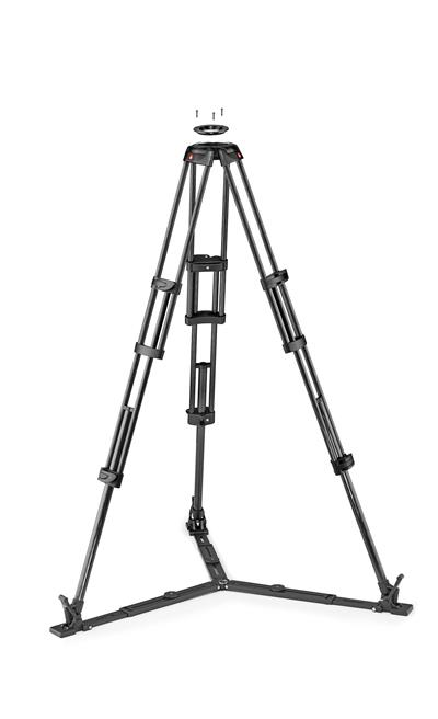 Manfrotto CF Twin leg with ground spreader video t