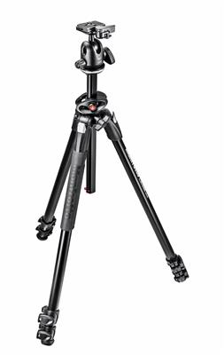Manfrotto 290 Dual Alu 3-Section Tripod Kit with 4