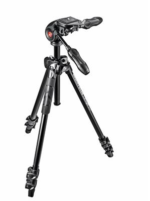 Manfrotto 290 Light Alu 3-Section Tripod Kit with