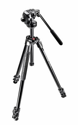 Manfrotto 290 Xtra Alu 3-Section Tripod Kit with 1